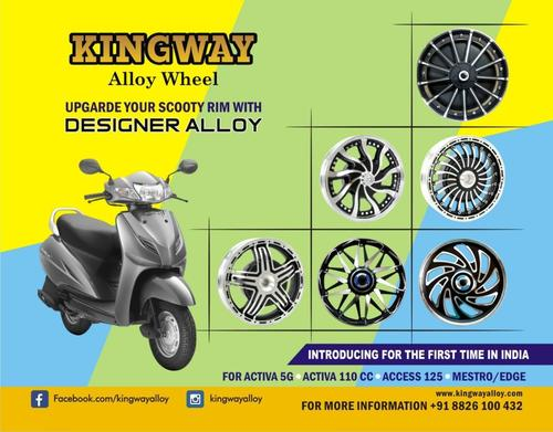 Designer Alloy Wheel For Scooty