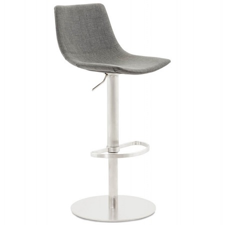 Grey Firm Padded Bar Stool