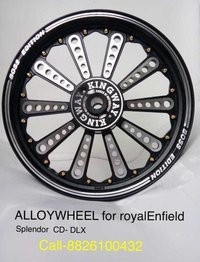 Alloy Wheels For (Royal Enfield Splendor & CD DLX)