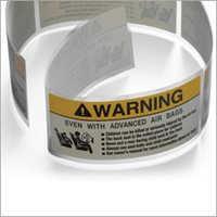 Warning Seal Label