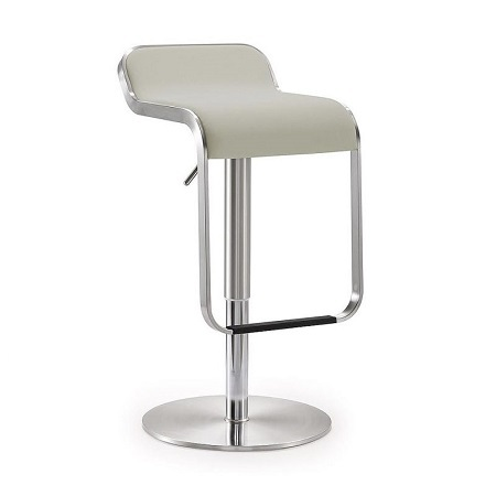 Bar Stools Brushed Aluminum Bar Stools