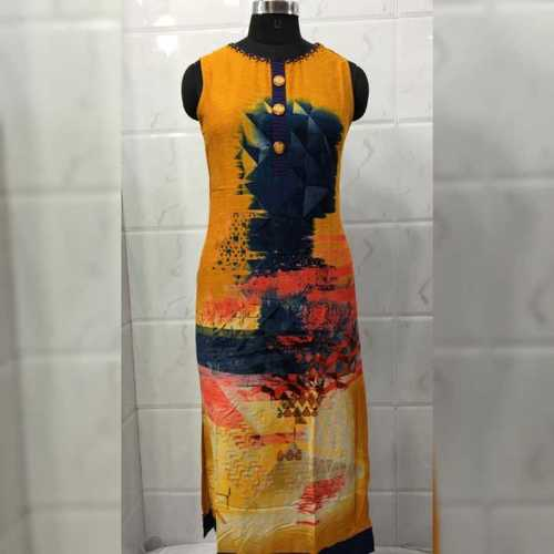 Fancy cotton print kurti