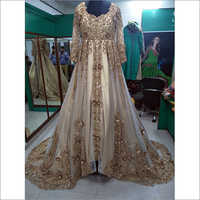 Heavy Handwork Embroidery Western Gown