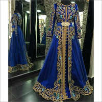 Handwork Embroidered Western Gown