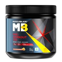 MuscleBlaze PRE Workout 300, 0.55 lb(0.25kg) Fruit Punch