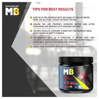 MuscleBlaze PRE Workout 300, 0.55 lb(0.25kg) Fruit Punch