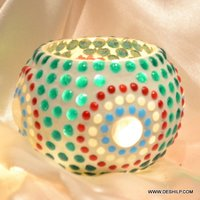 Mosaic Handmade Glass Candle Holder