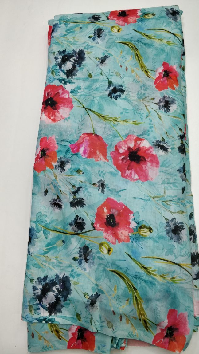 Digital Printed Muslin Fabric