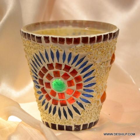 SMALL GLASS TEA LIGHT CANDLE
