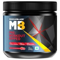 MuscleBlaze Pre Workout Ripped, 0.55 lb (0.25kg)Raspberry Lemonade