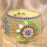 SMALL MOSAIC CANDLE HOLDER