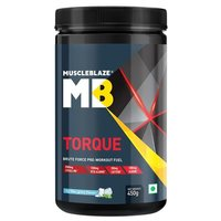 MuscleBlaze Torque Pre-Workout, 0.99 lb(0.45kg) Icy Blue Splash