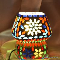VERY SMALL GLASS MOSAIC TABLE LAMP