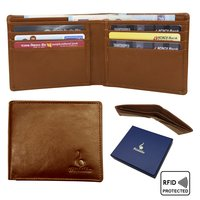 Genuine leather RFID Slim Bifold Wallet