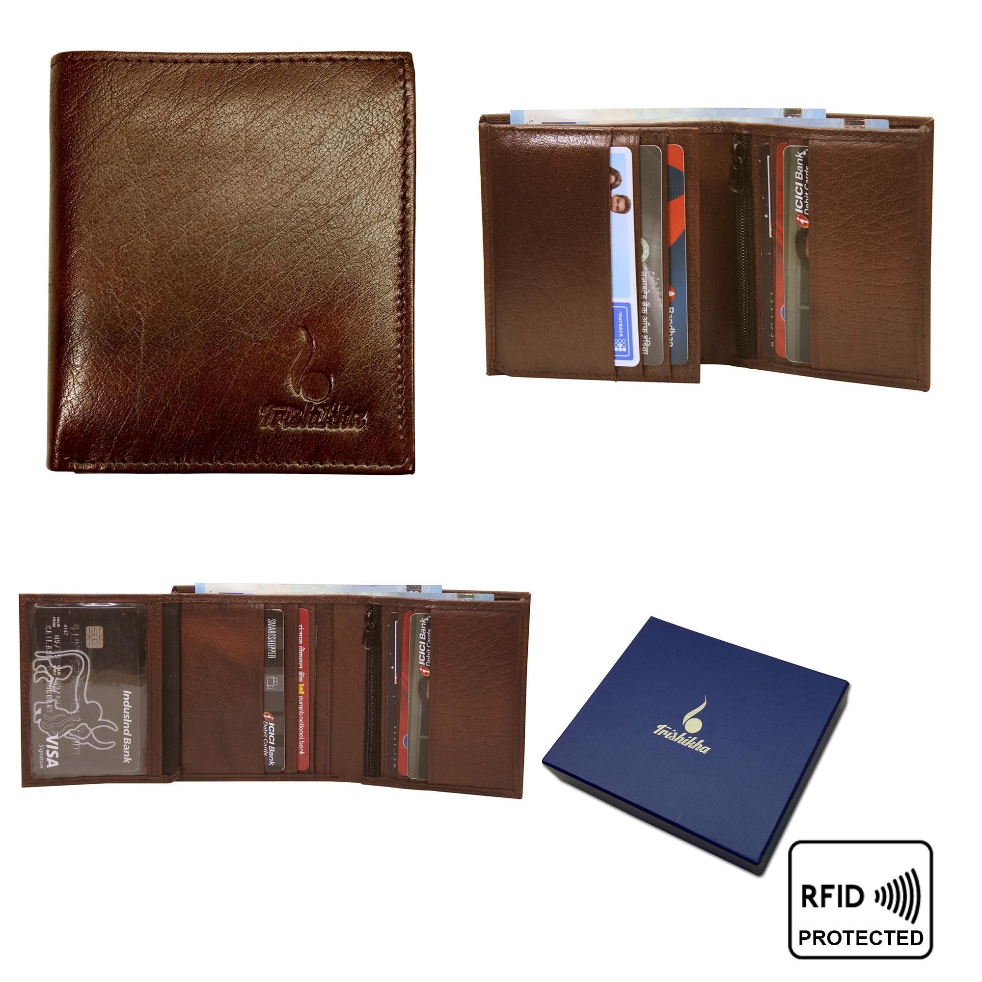 Genuine Leather RFID Bifold Wallet