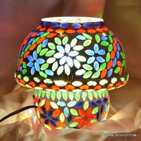 MOSAIC MULTI COLOR GLASS TABLE LAMP