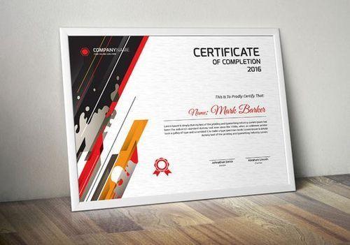 UV Printed Certificates