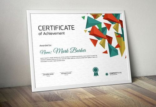 Certificate With Security Printing