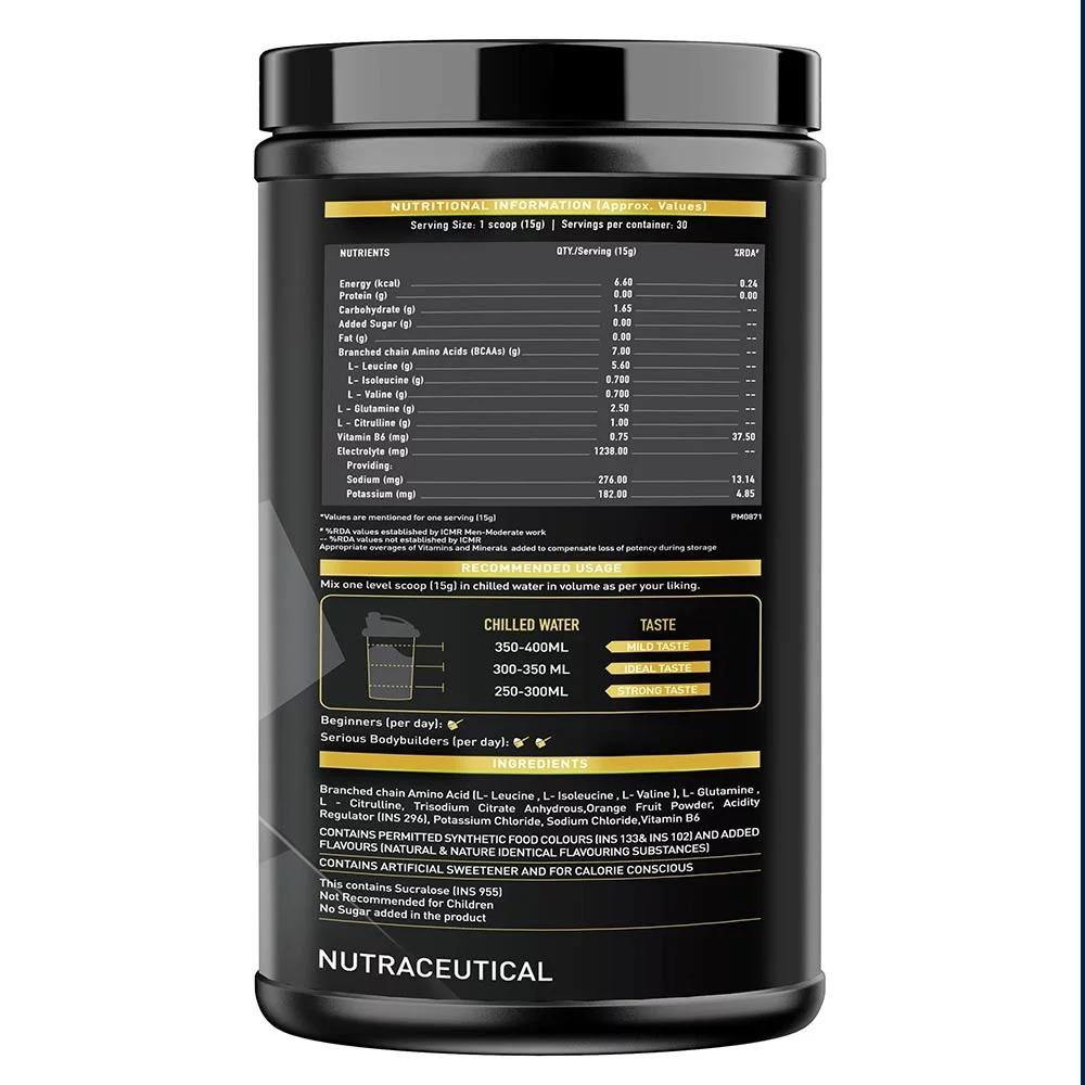 MuscleBlaze BCAA Gold 8:1:1, 0.99 lb(0.45kg) Green Apple