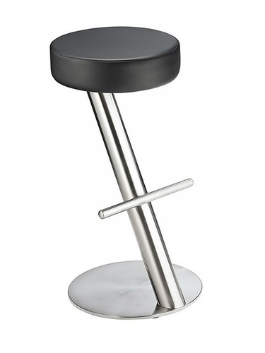Girona Fixed Height Brushed Steel Bar Stool