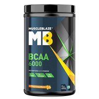MuscleBlaze BCAA 6000, 0.88 lb (400g) Tangy Orange
