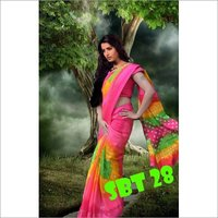 New printed silk saree
