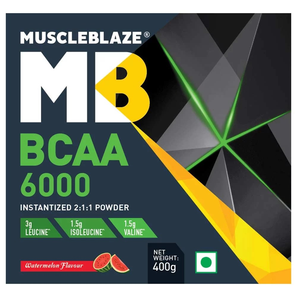 MuscleBlaze BCAA 6000, 0.88 lb(400g) Watermelon
