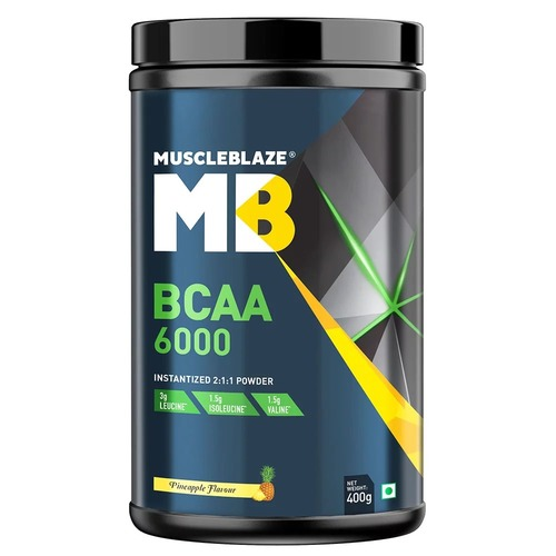 MuscleBlaze BCAA 6000, 0.88 lb(400g) Pineapple