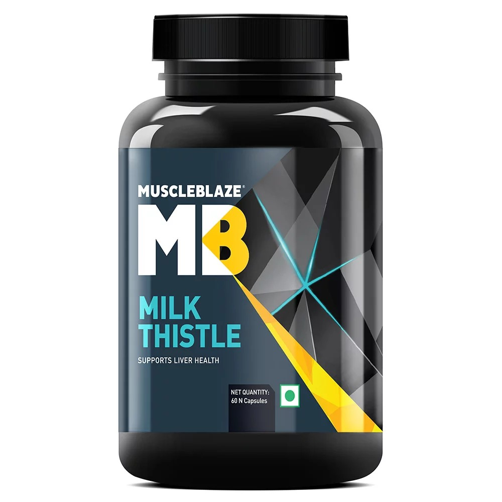 MuscleBlaze Milk Thistle, 60 capsules