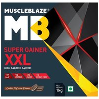 MuscleBlaze Super Gainer XXL, 2.2 lb(1kg) Cookies & Cream