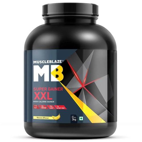 MuscleBlaze Super Gainer XXL, 6.6 lb (3kg)Banana