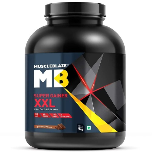 MuscleBlaze Super Gainer XXL, 6.6 lb (3kg) Chocolate