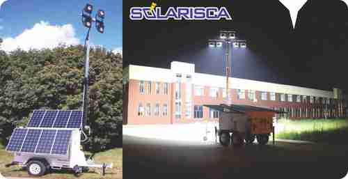 Portable Solar Tower Flood Light