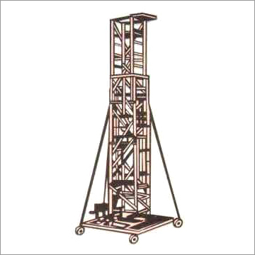 Aluminium Straight Square Type Extendable Tower Ladder