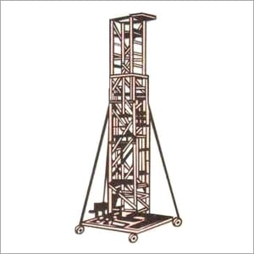 Aluminium Straight Square Type Extendable Tower Ladder