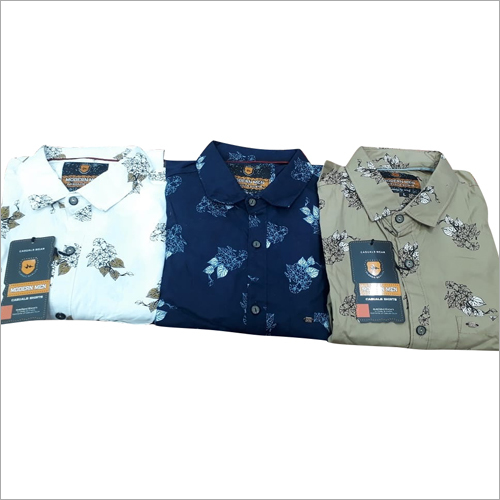Mens Colored  Printed Shirts