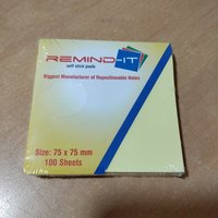 Plain sticky note pad