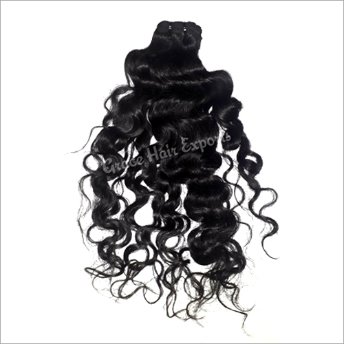 Virgin Weft Curly Hair Extension