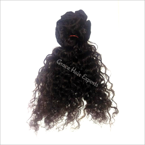 Steamed Curly Weft Hair Extension