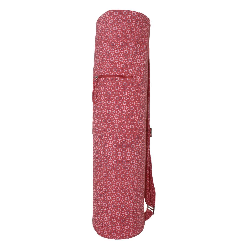 New Design Printed Yoga Bag- Shell Pink
