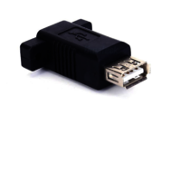 USB 2.0 Panel-Mount Type B female to Type A female coupler