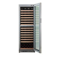Double Temperature Zone Stainless Steel Wine Cooler