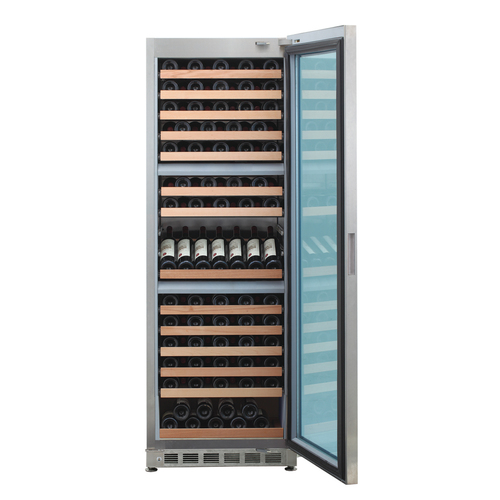 Three Temperature Zone Stainless Steel Wine Cooler