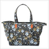 Ladies Rexine Printed Handbag