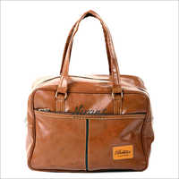 Brown Handle Leather Office Bag