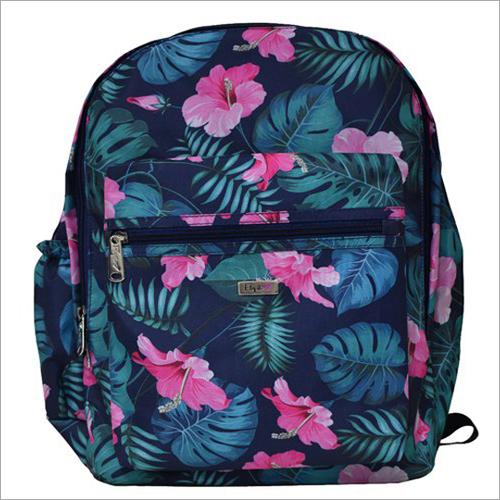 Floral Print School Bag