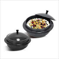 2 Piece Triple Iron Cauldrons Set