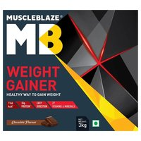 MuscleBlaze Weight Gainer with Added Digezyme, 6.6 lb (3kg)Chocolate