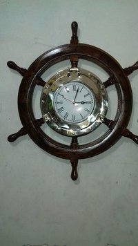 Nautical Ship Wheel Clock