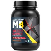 MuscleBlaze Weight Gainer with Added Digezyme, 2.2 lb(1kg) Chocolate
